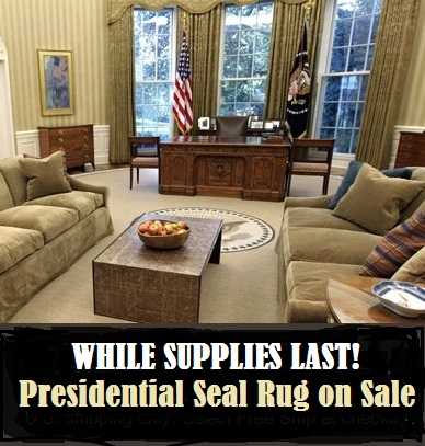 White House Presidential Seal Rug on sale