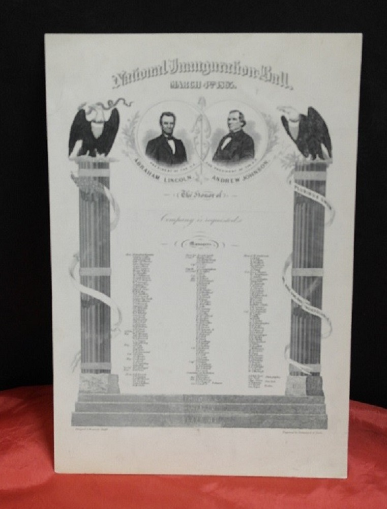 Abraham Lincoln 1860 Inaugural Invitation