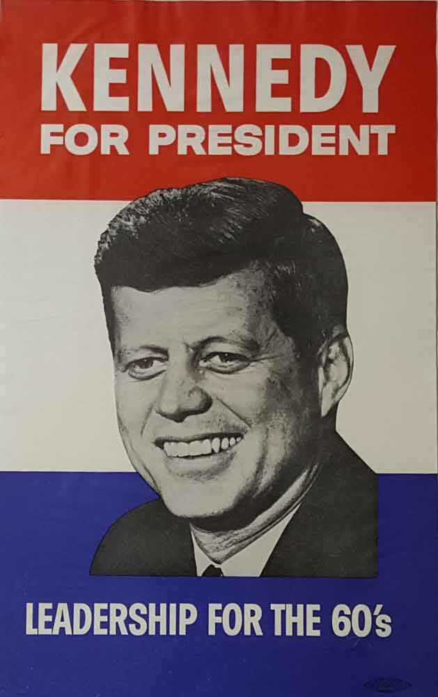 We Buy Kennedy buttons and posters