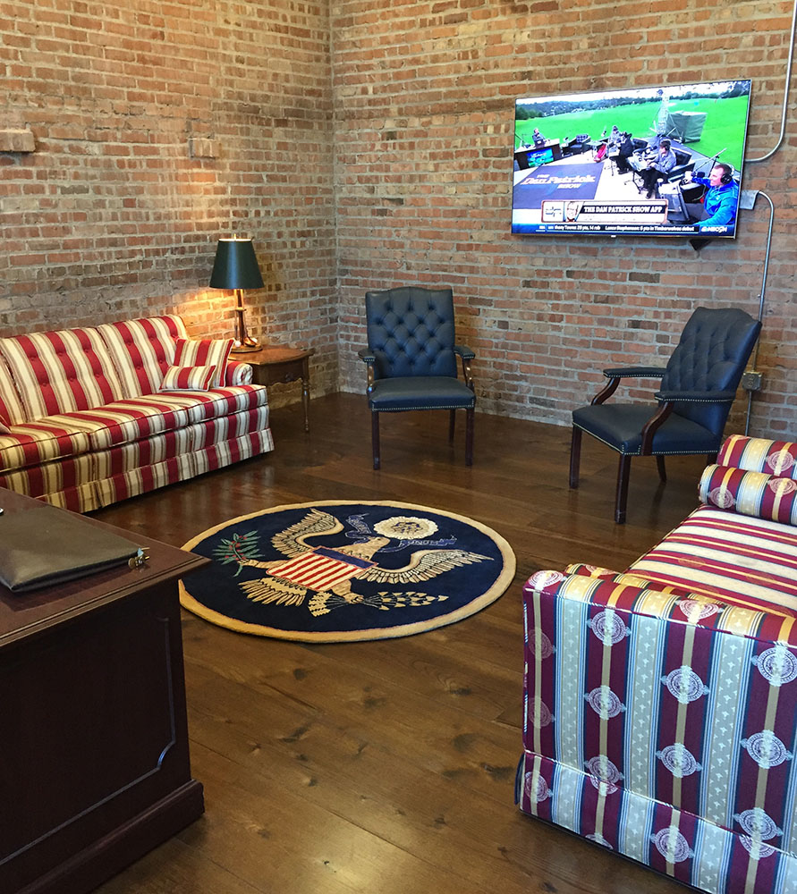Presidential Seal Rug Displayed in Office