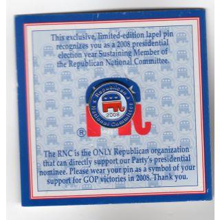 Pachyderm Power Pin Back President Election 1980 GOP Republican Campaign Button