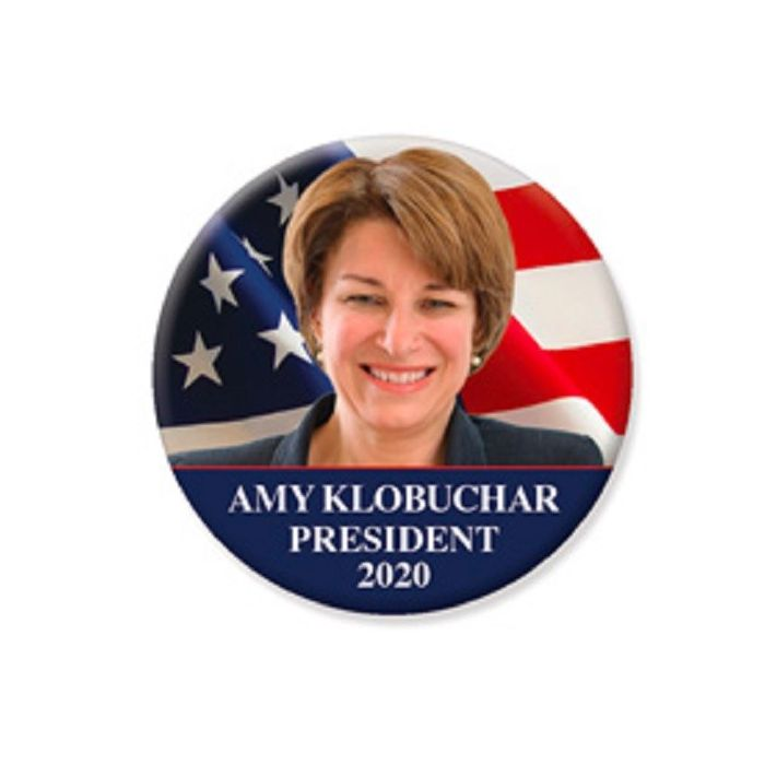 Amy Klobuchar For President 2020 Campaign Button