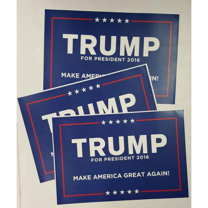 THREE Donald Trump For President 2016 Campaign Posters