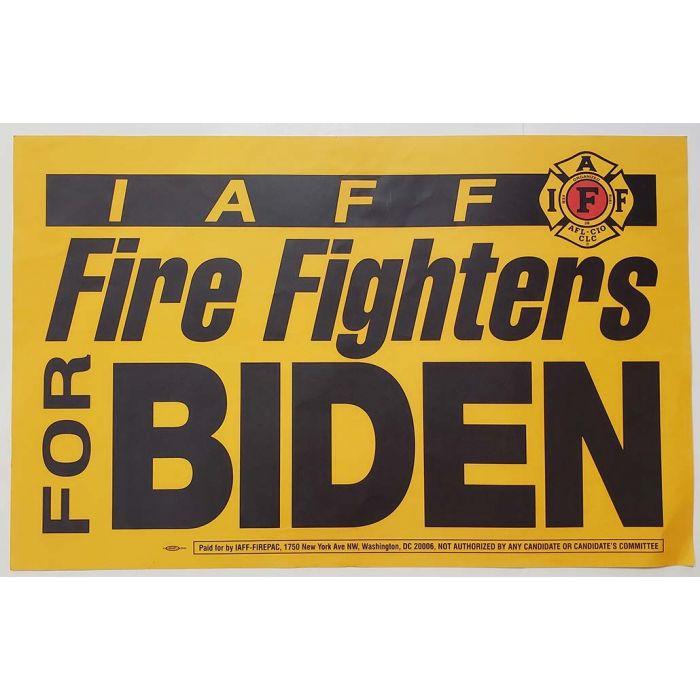 2020 Joe Biden Fire Fighters Union Campaign Poster