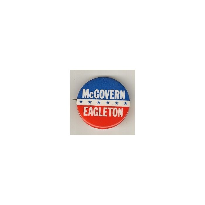 Official 1972 Presidential George McGovern Tom Eagleton Pin Back Campaign Button