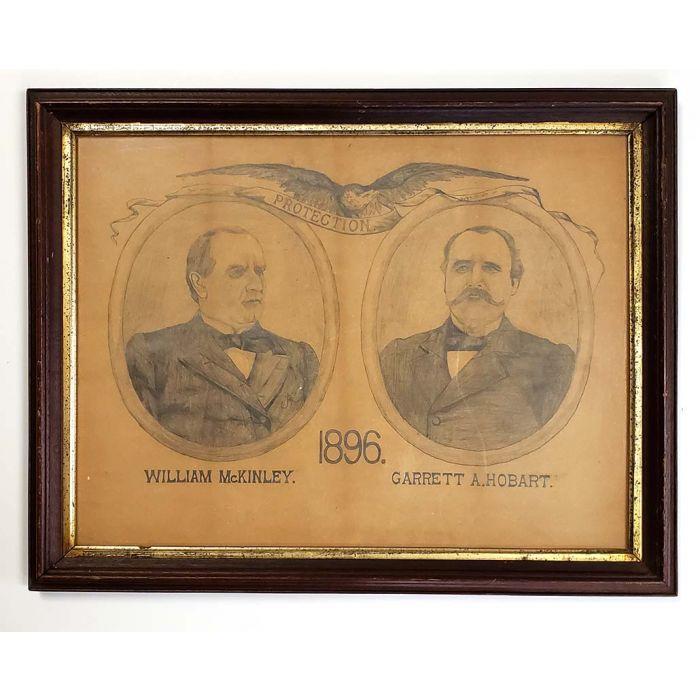 President Mckinley Vice President Hobart Framed Poster