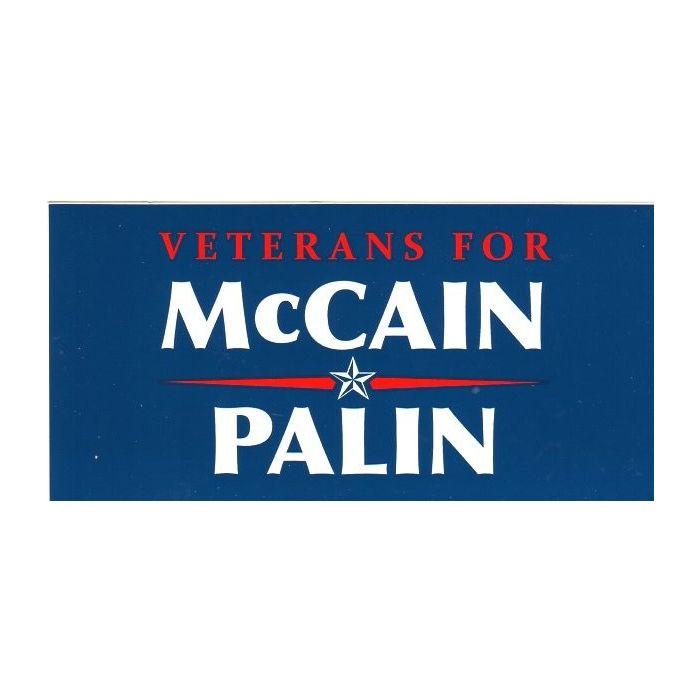 Veterans for Obama 2008 Presidential Bumper sticker mint condition