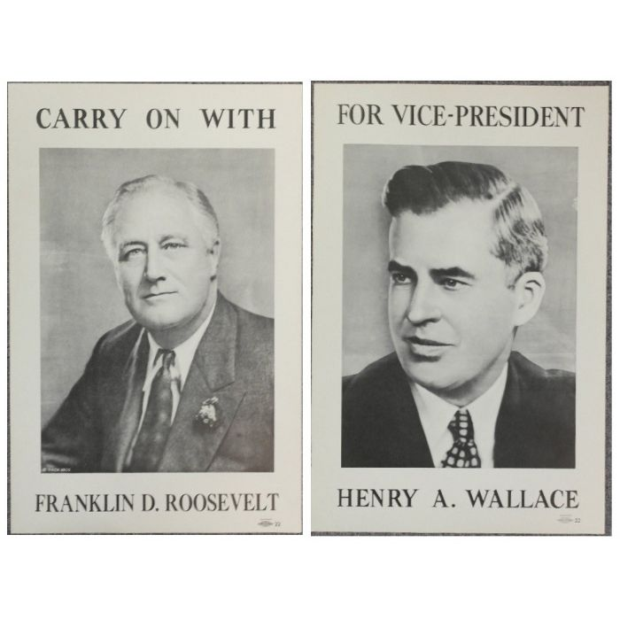 Roosevelt Wallace 1940 Campaign Poster Set