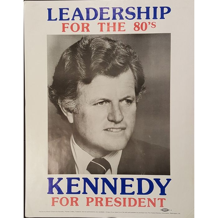 1980 Ted Kennedy For President Campaign Poster