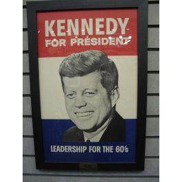 Kennedy For President Framed Campaign Poster